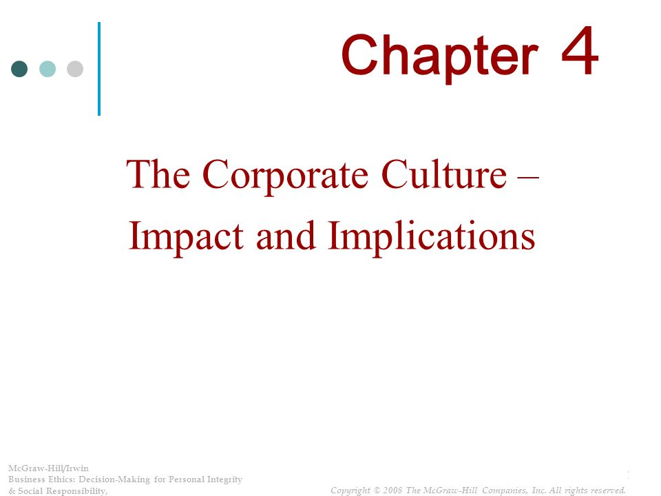 business ethics ch 4 And ethical issues in international business principles of business ethics is the theme of this chapter in the business ethics volume the theme is of interest to learners and teachers of english around the world the focus of these lessons is on the.