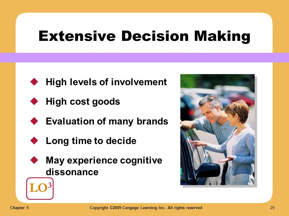 Consumer Behavior - Decision Making