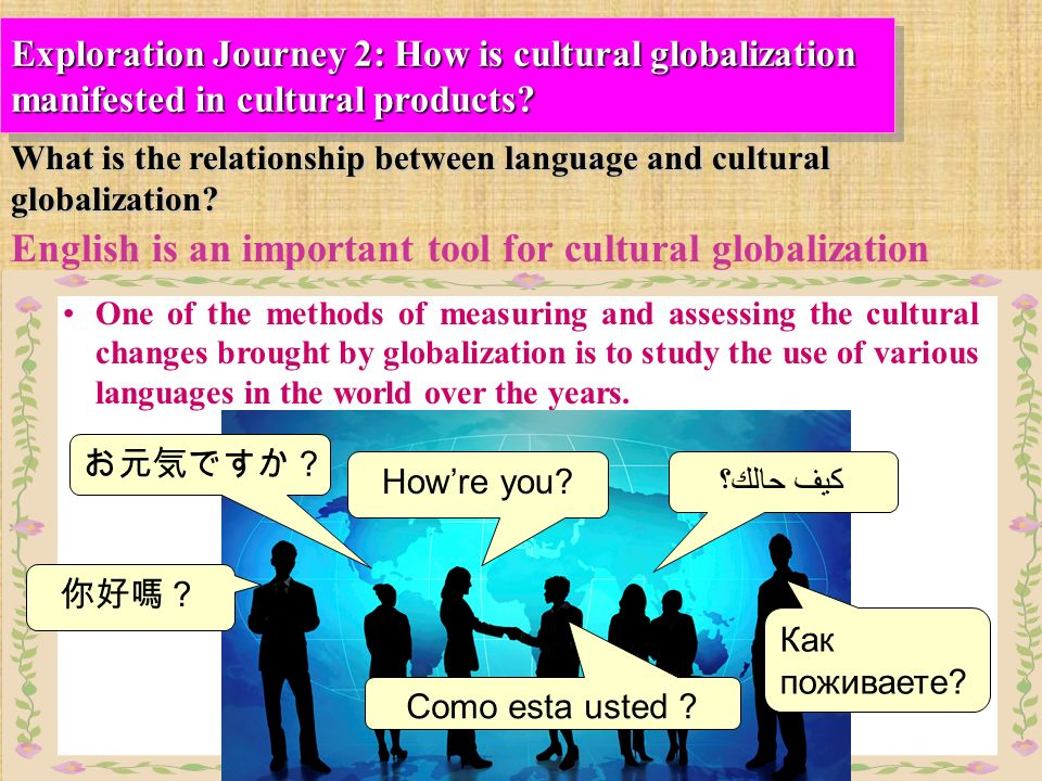 english language globalization Globalization, global english, and world english  • english as a language spoken all over the world  is english a driver of globalization or a free.