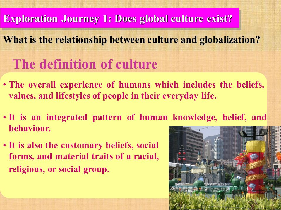 what relationship is there between globalization and She analyses the relationship between language and culture from three different perspectives: sociological, psychological and linguistic in the first perspective, language and culture can be separable, since it is possible for a language to express or create, as kramsch (2009) would say, different realities or cultures.