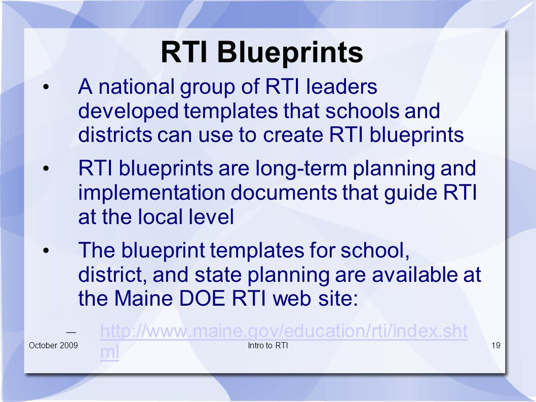 Maine department of education response to intervention what is it rti blueprints malvernweather Gallery