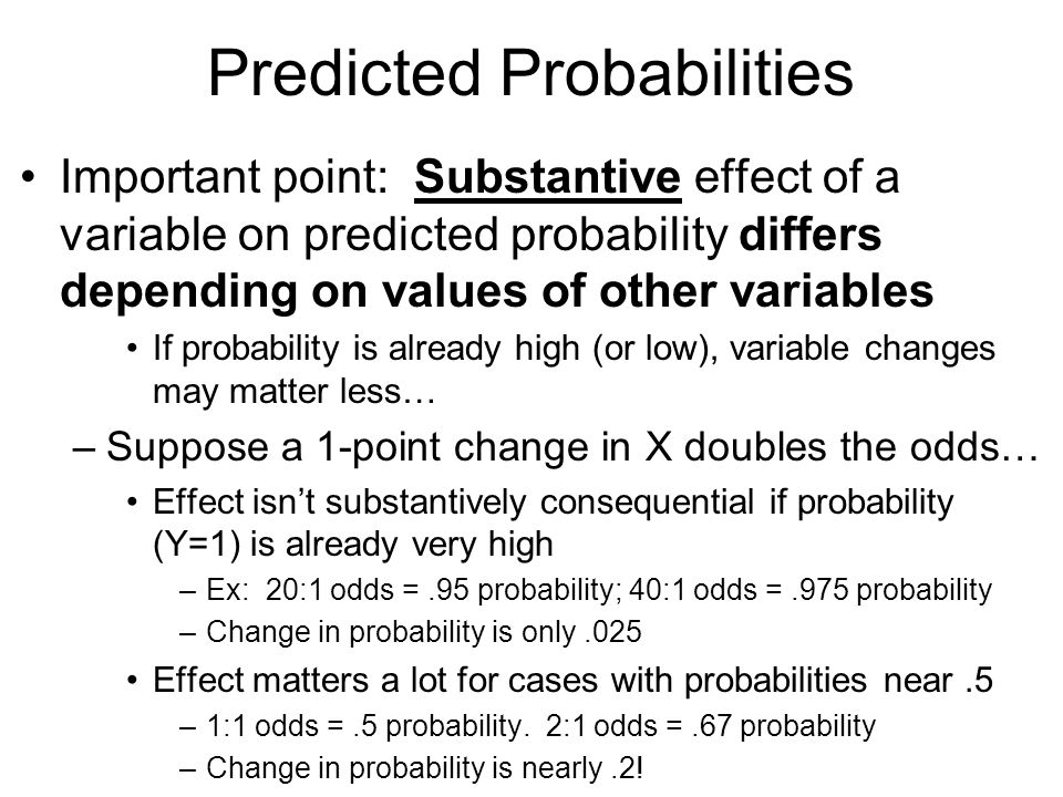 how to change odds into probability
