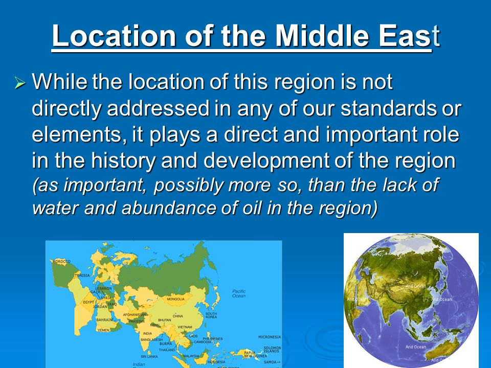 Location of the Middle East