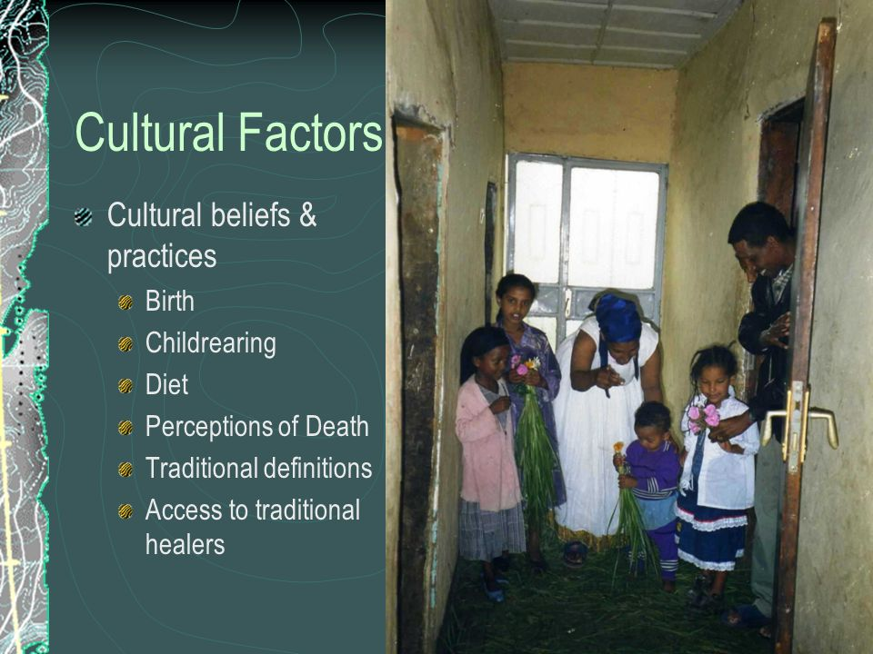 cultural beliefs and practices Western medical practices, like most populations, they tend to have certain care preferences, attitudes, and expectations driven by cultural norms, particularly religious beliefs, and expectations [9.