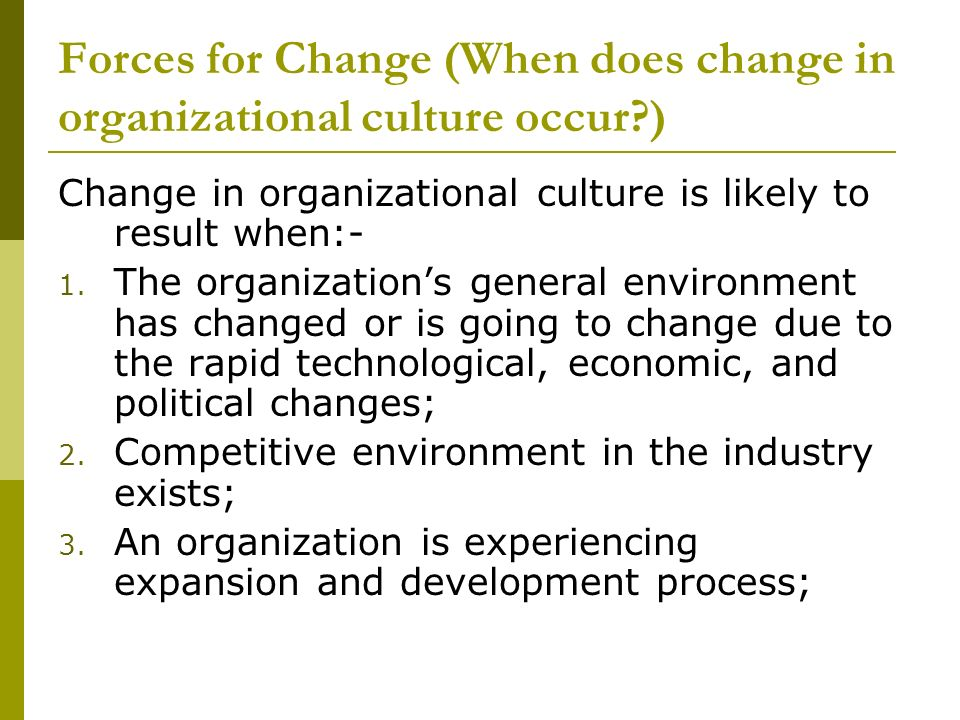the organisation's environment and why change Change country business  the implications of different ways of thinking about the business environment  business organisations and their environments starts.