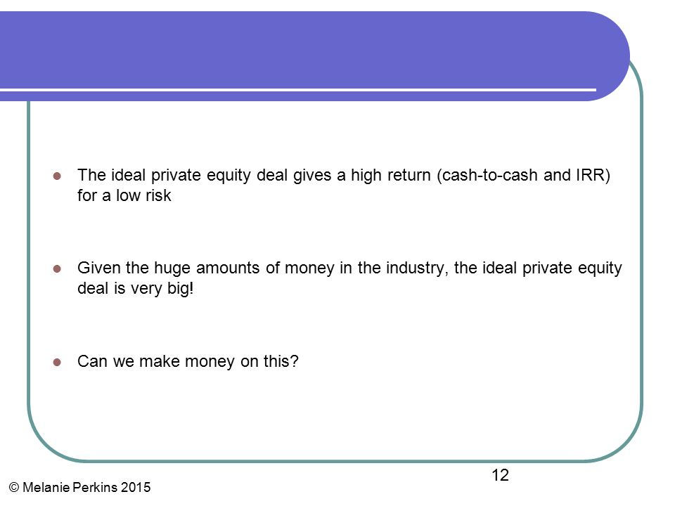High profile private equity deals