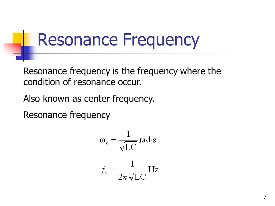 how to detect resonance frequency
