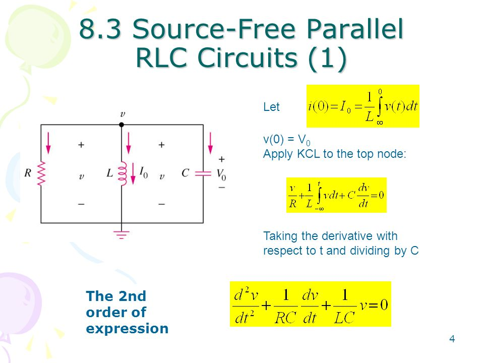 Chapter 8 Second-Order Circuits - ppt video online download