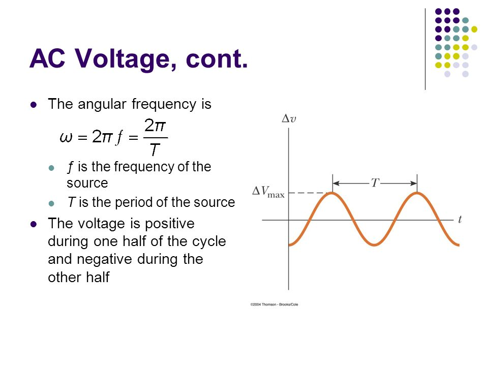 Frequency Of Ac : Alternating current circuits ppt video online download