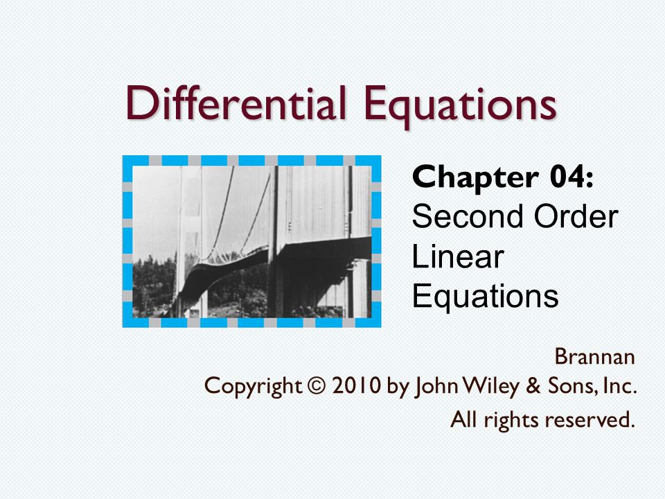 how to solve second order linear differential equations