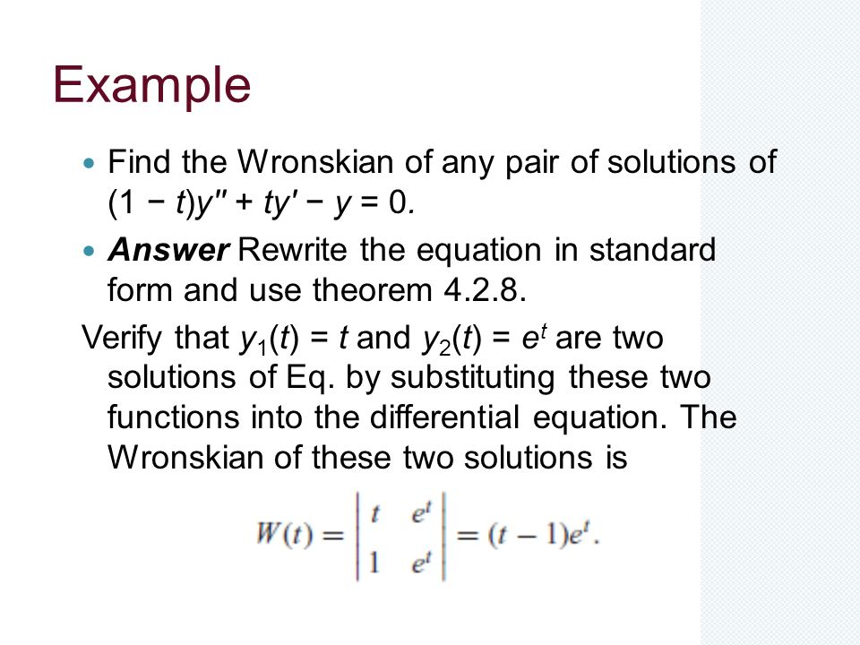 Differential Equations - ppt download