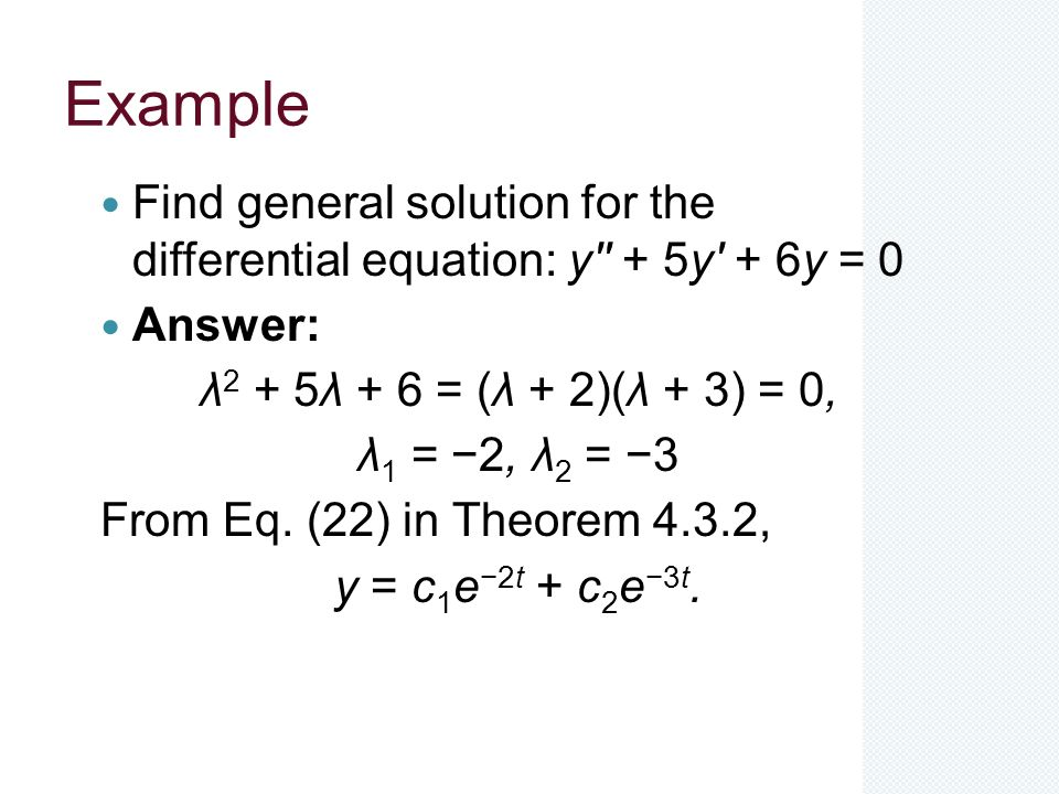 how to find trivial solution of differential equation
