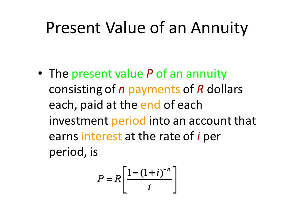 present value equation inspirational present value annuity
