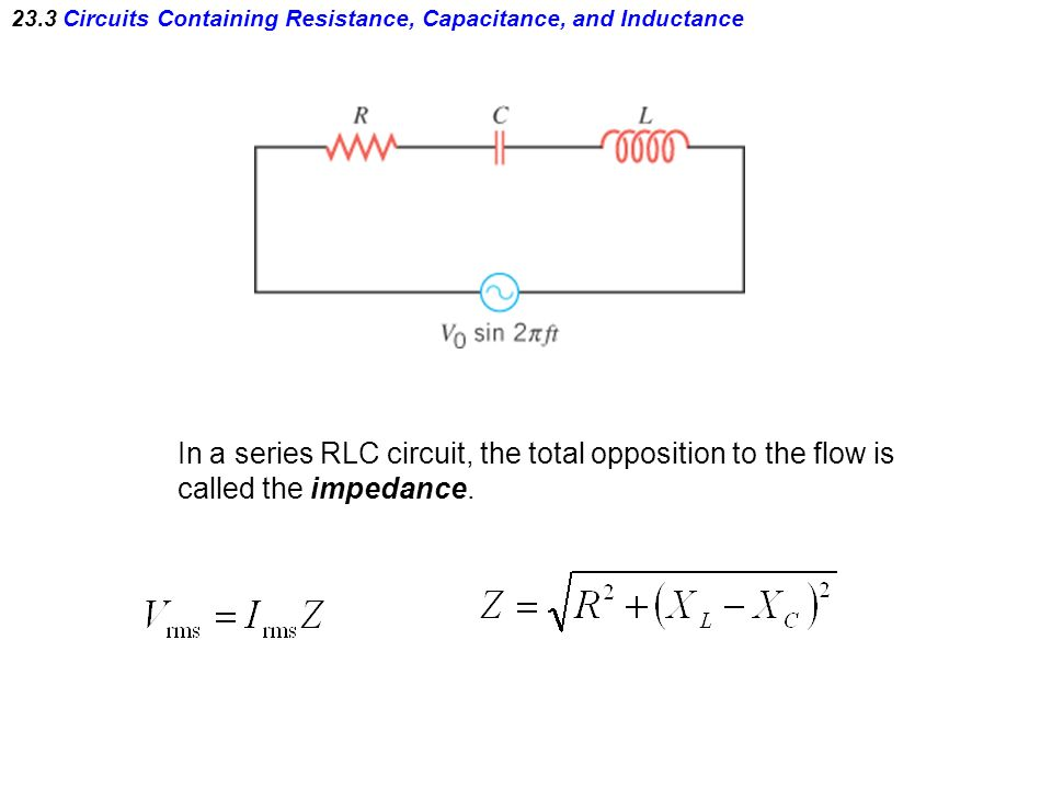 resistance inductance capacitance reactance impedance pdf