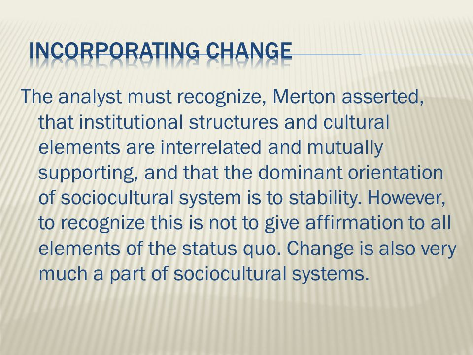 strain theory robert merton an analysis Historical analysis points to the fact that the strain theory behind the cause of criminal behavior in the society is one of the earliest in the line robert merton (1938), taking a functionalist approach in the famous essay social structure and anomie, merton developed his argument through which he raised an objection to the blame on .