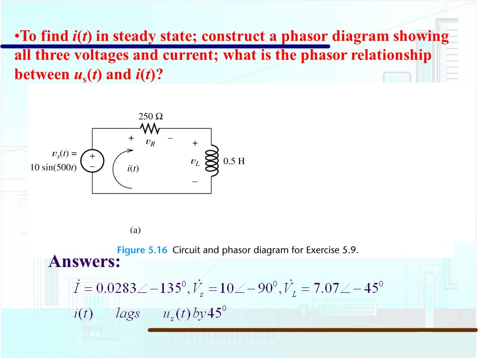 54 circuit analysis using phasors and complex impedances ppt to find it in steady state construct a phasor diagram showing all ccuart Image collections
