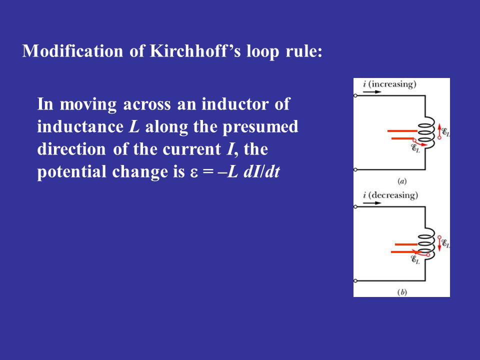 Modification of Kirchhoff's loop rule: