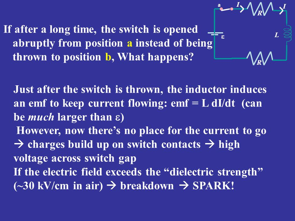 If the electric field exceeds the dielectric strength