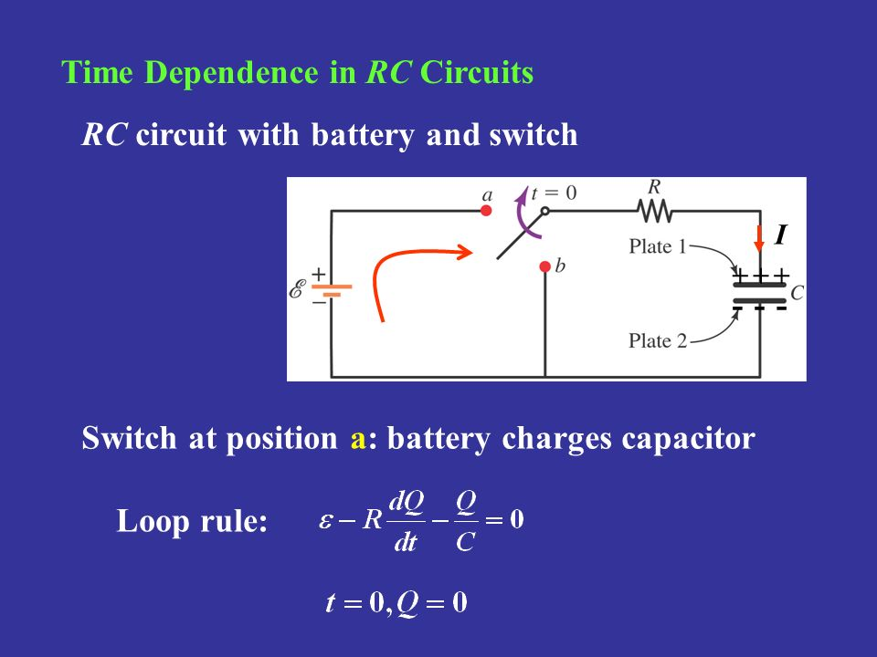 Time Dependence in RC Circuits