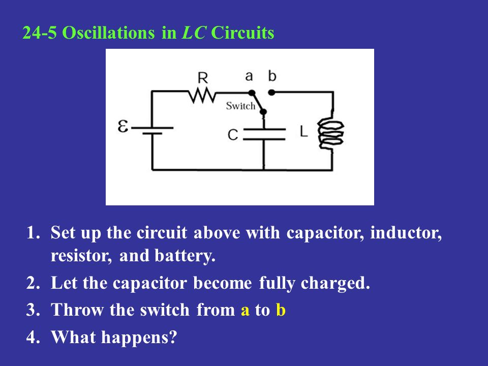 24-5 Oscillations in LC Circuits