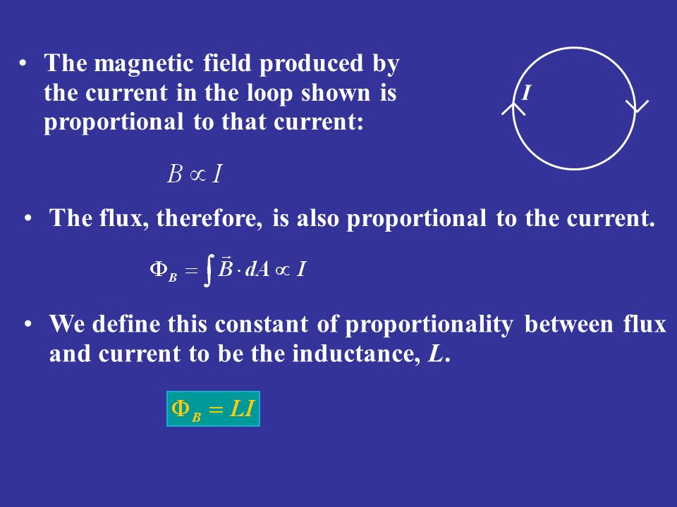 The flux, therefore, is also proportional to the current.