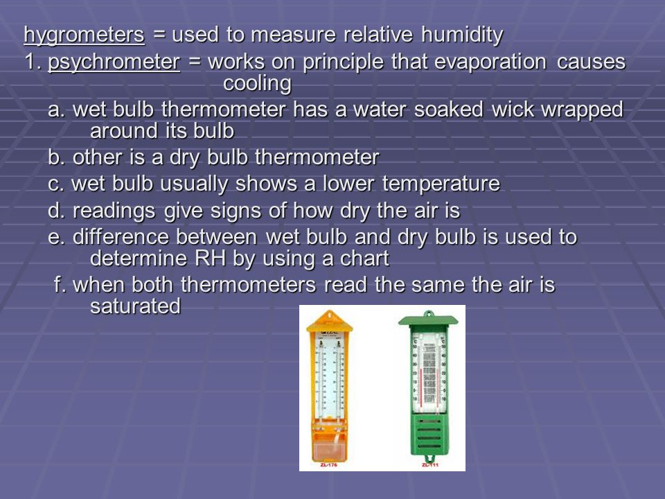 Determine Air Flow Using Wet Bulb Dry Bulb 60