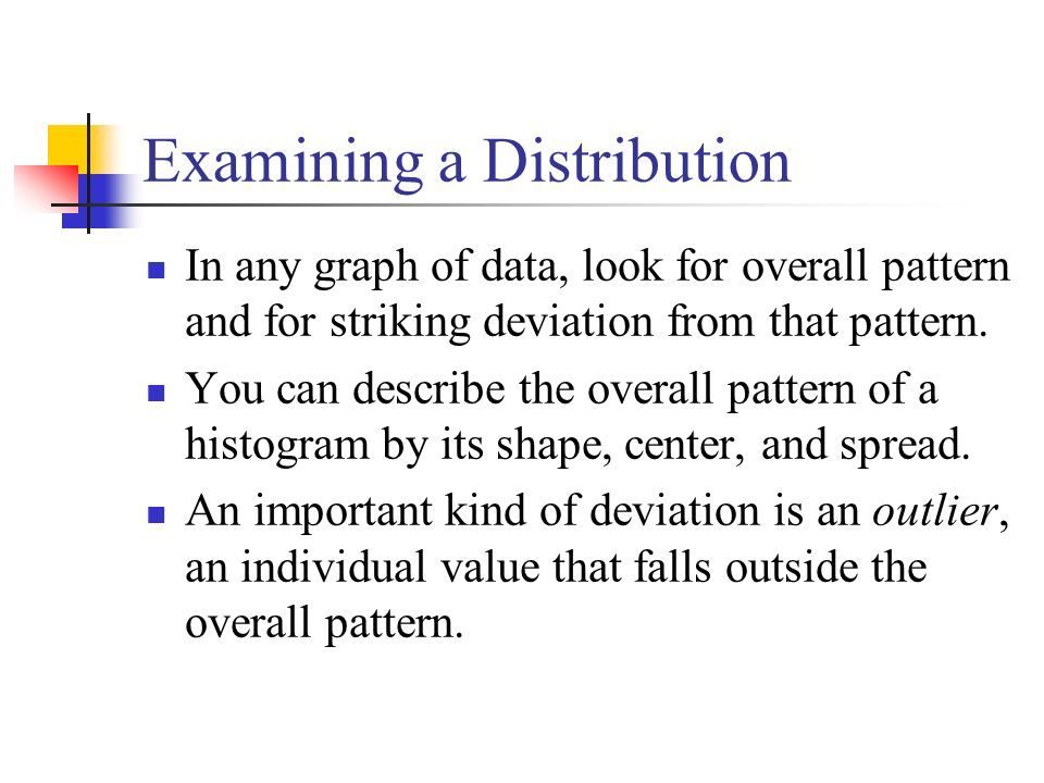 Examining a Distribution