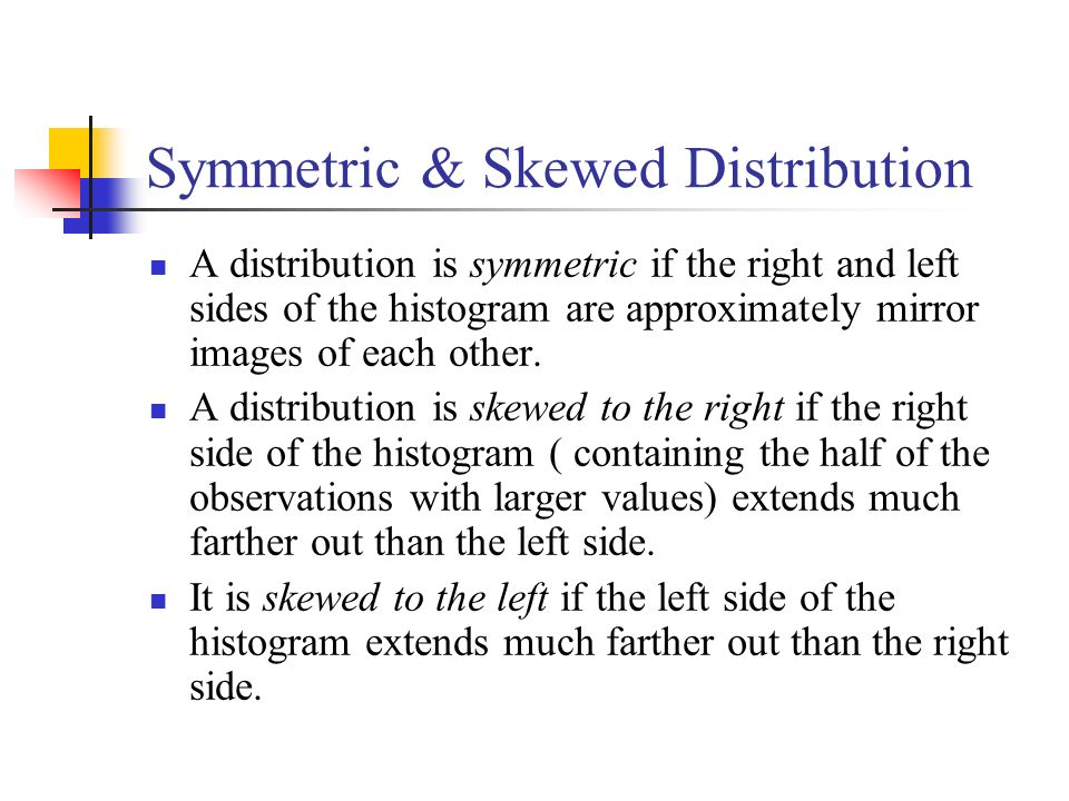 Symmetric & Skewed Distribution