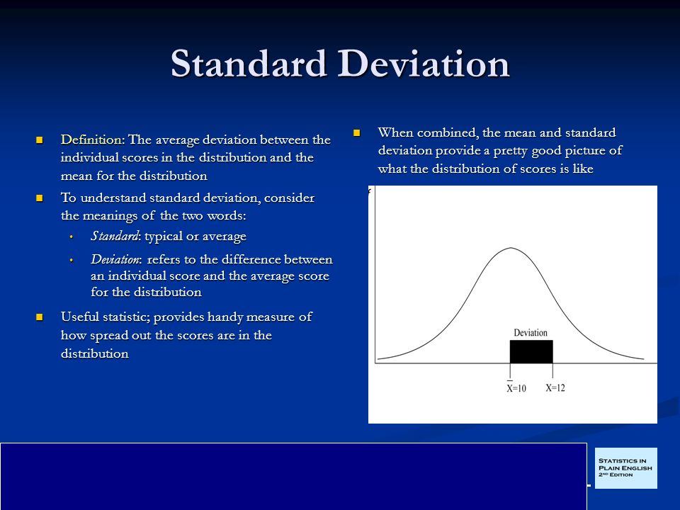 Captivating Standard Deviation When Combined, The Mean And Standard Deviation Provide A  Pretty Good Picture Of