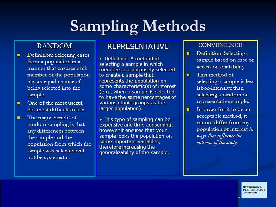 Convenience sampling research