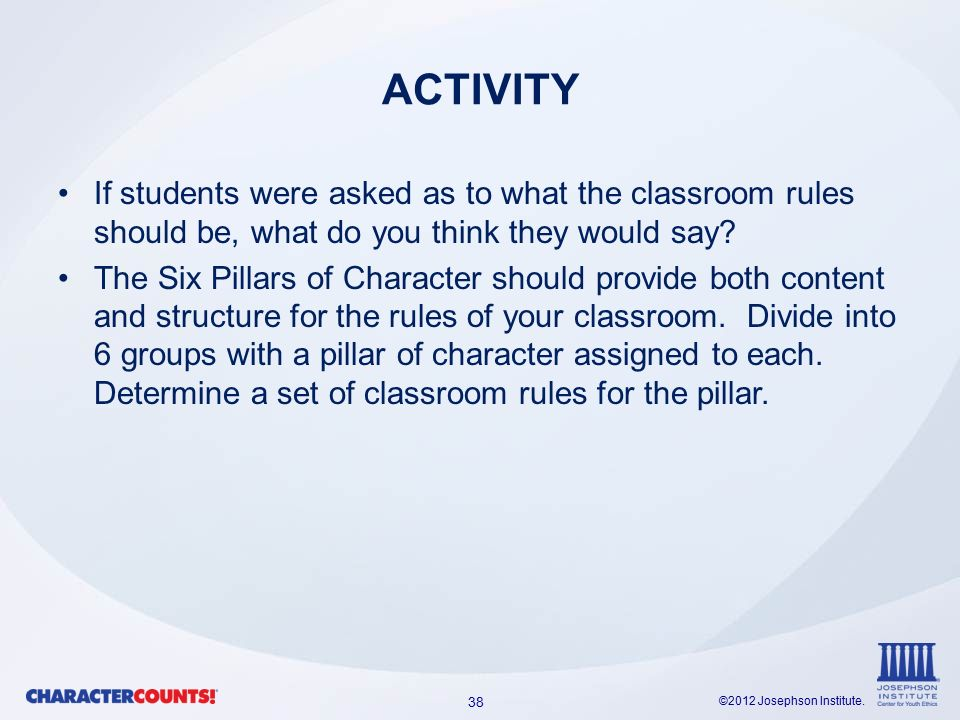 the six pillar educator ppt video online 38 activity