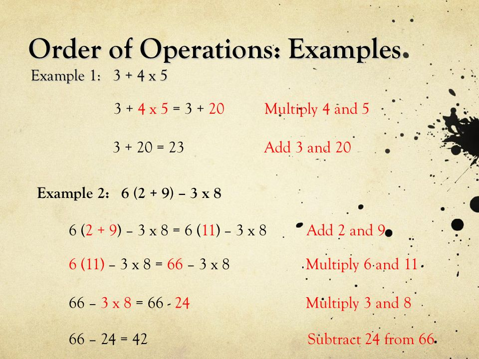Order Of Operations With Exponents And Integers Ppt Download