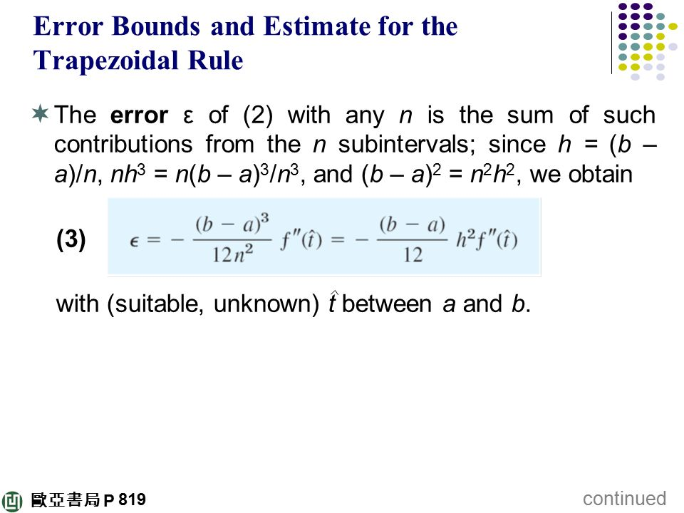 Error Bounds and Estimate for the Trapezoidal Rule
