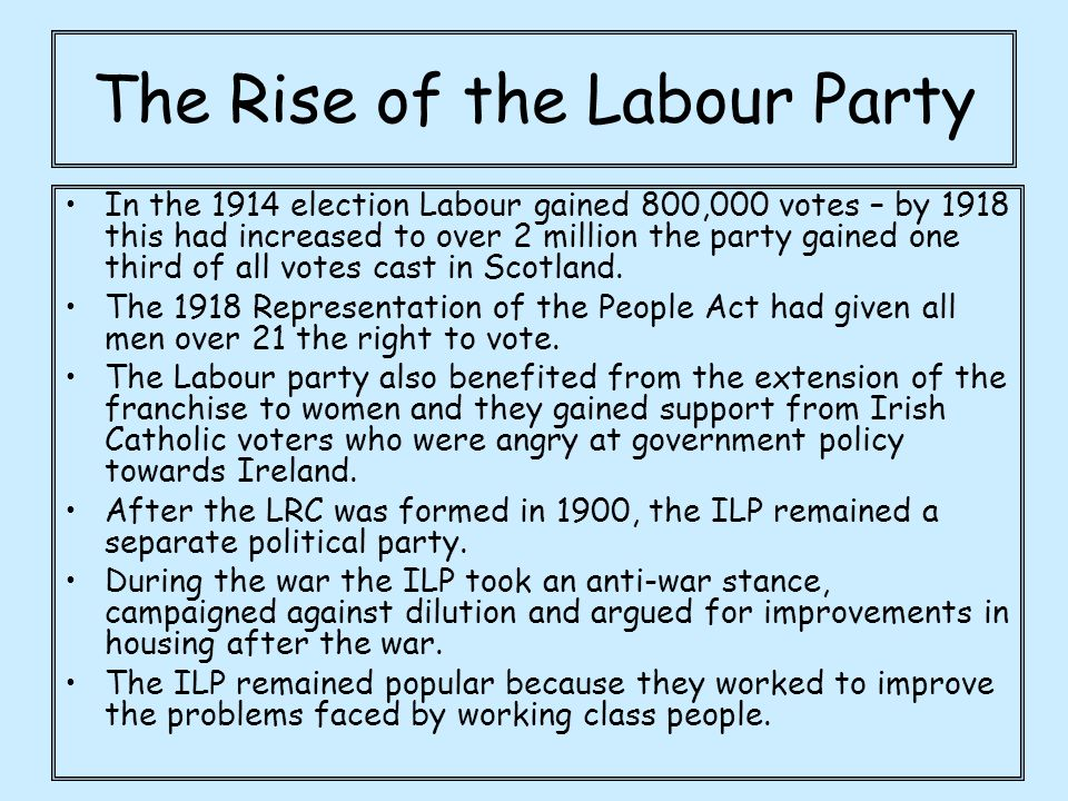 The Rise of the Labour Party