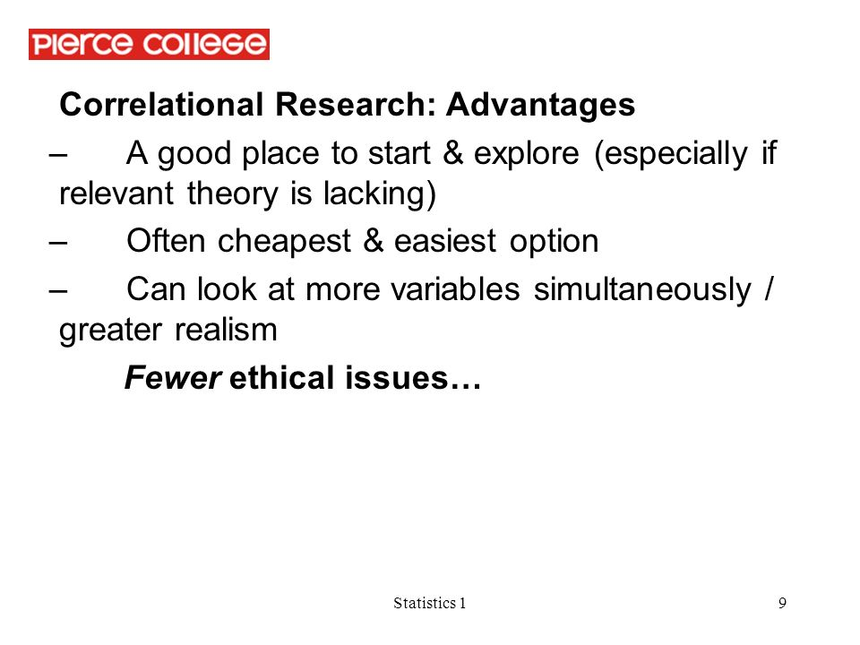 advantages of correlational research pdf