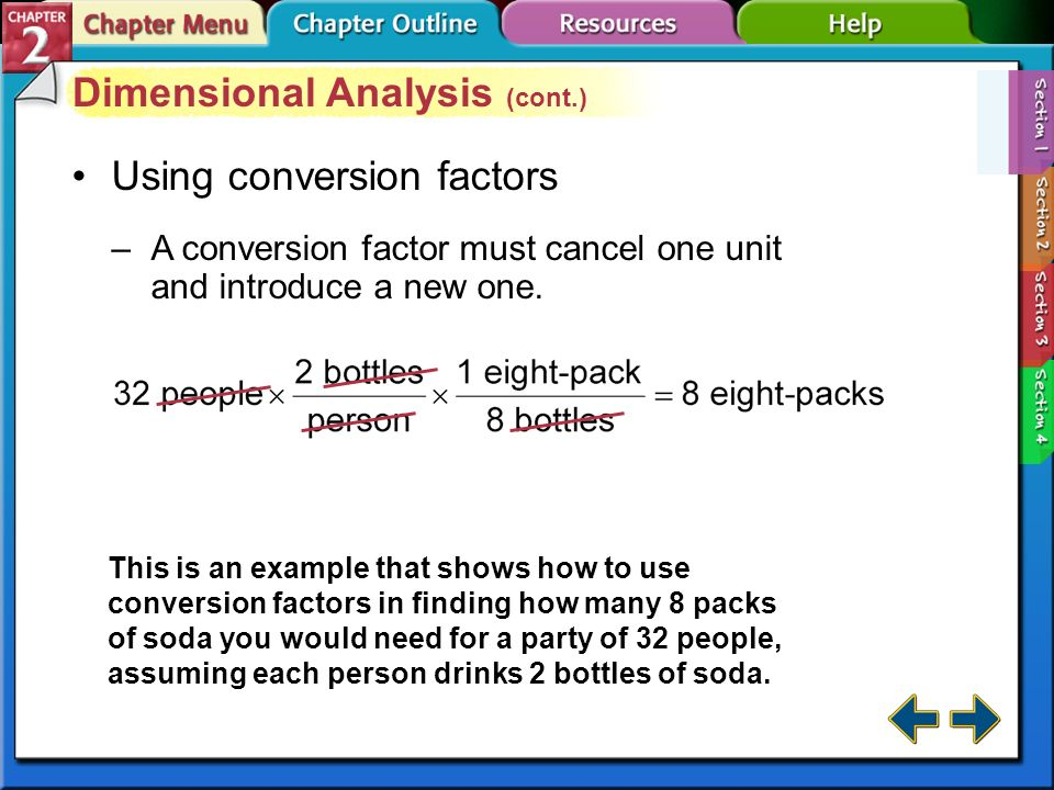 how to use conversion factors