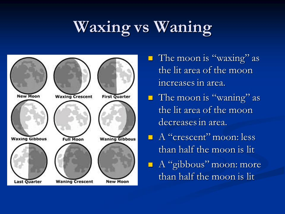 how to tell if the moon is waxing or waning