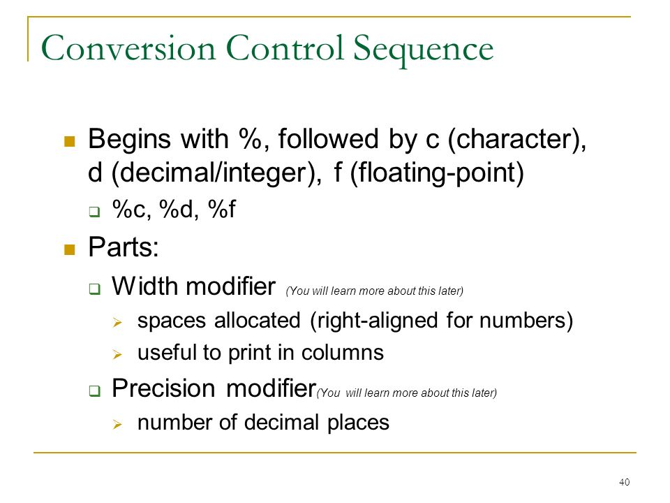 Conversion Control Sequence