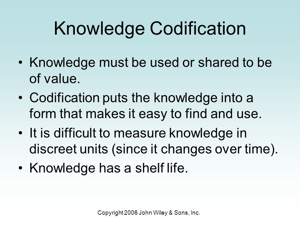 knowledge codification In problem-based learning, the instructional process begins with the introduction of the problem statement, one that is usually real-world-oriented students in groups are encouraged to tackle and solve the problem, in the process of which they build up their own individual conceptual knowledge schemas in relation to the given problems in developing pbl-centred curriculum, problems selected.