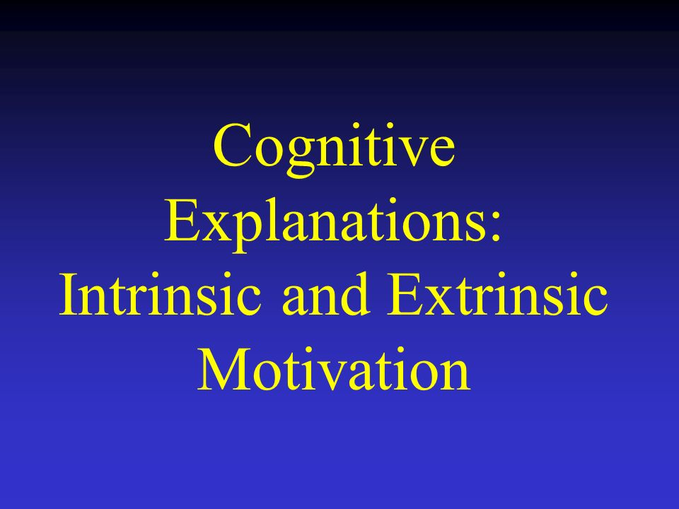 facts about cognitive theory of motivation Ap psychology terminology for motivation and emotion learn with flashcards, games, and more — for free.