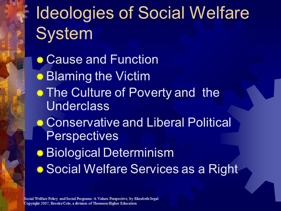 social welfare policy Course description this course surveys the history of social welfare policy, services, and the social work profession it explores current social welfare issues in the context of their history and the underlying rationale and values that support different approaches.