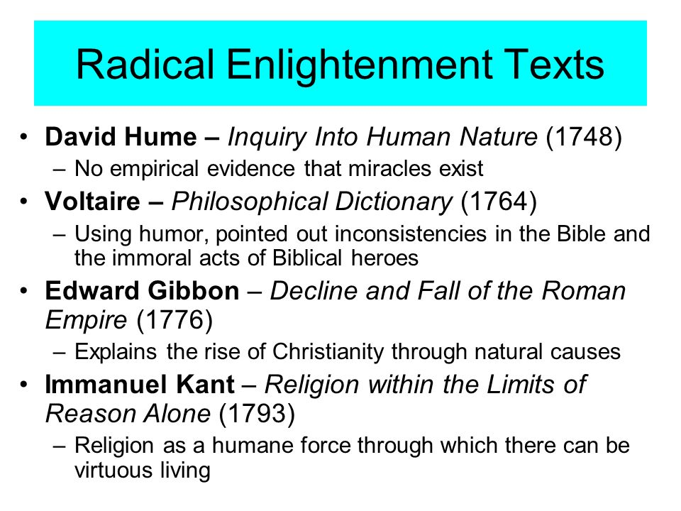 Rational Inquiry Into The Natural World And Human Ethics Is