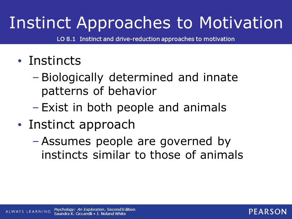 7 approaches to motivation Since bob's desire to change comes from within, his motivation is intrinsic 2 extrinsic motivation extrinsic motivation, on the other hand, is a type of motivation in which an individual is being motivated by external desires.