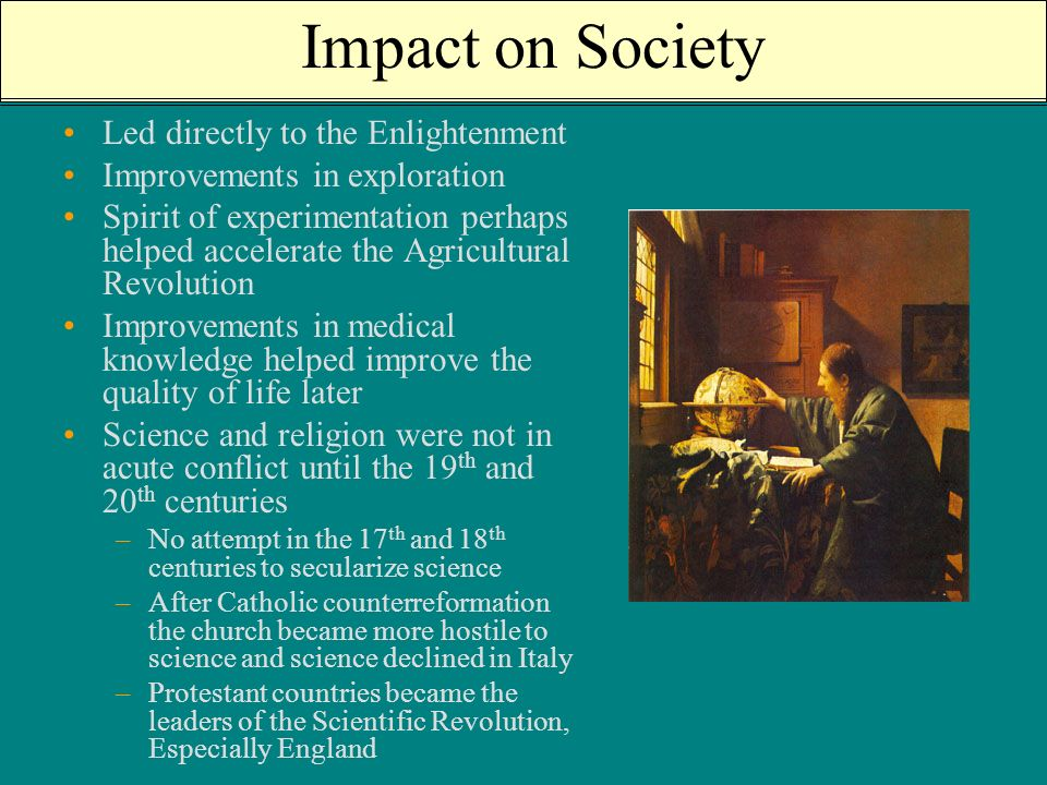 the impact of the enlightenment period in the society today Society today the idea that government is a social contract between the state and the people, for instance, is fundamental to democracy it is critical to note, however, that many of the ideas of the enlightenment have had a negative impact since their elaboration in the eighteenth century when examining how ideas influenced later events.