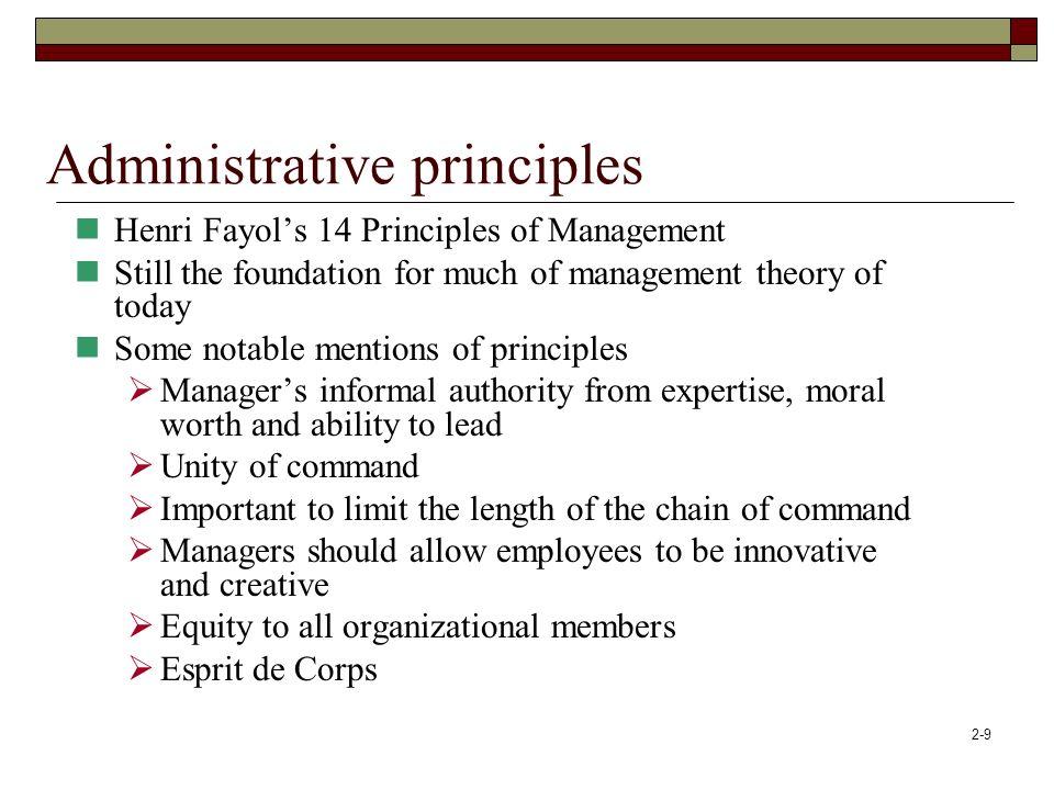 Administrative principles