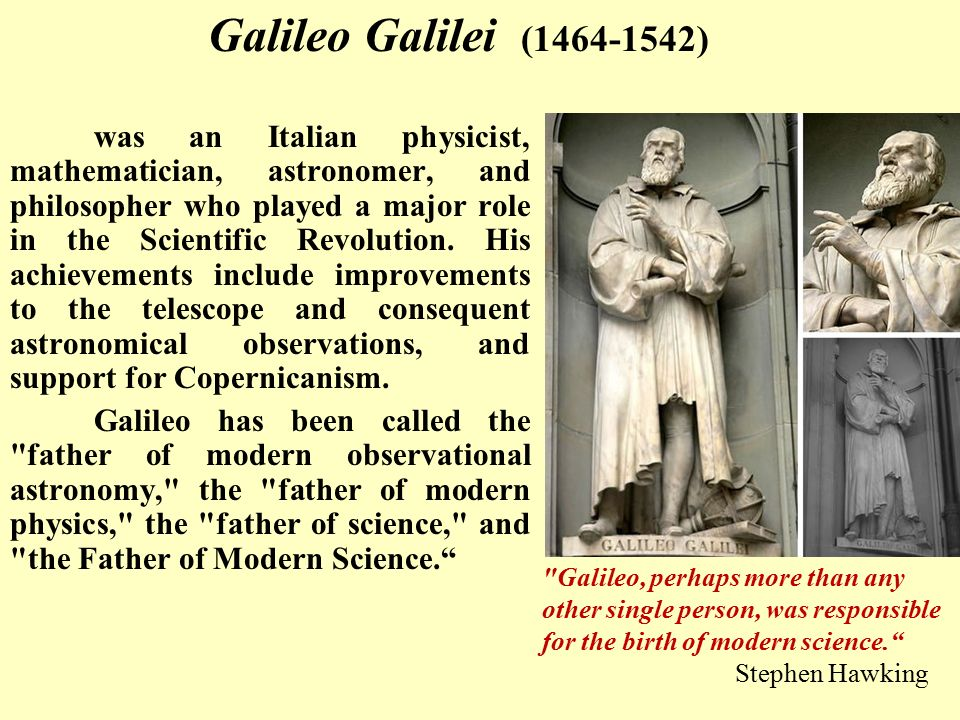 The conflict between galileo and the church father langford