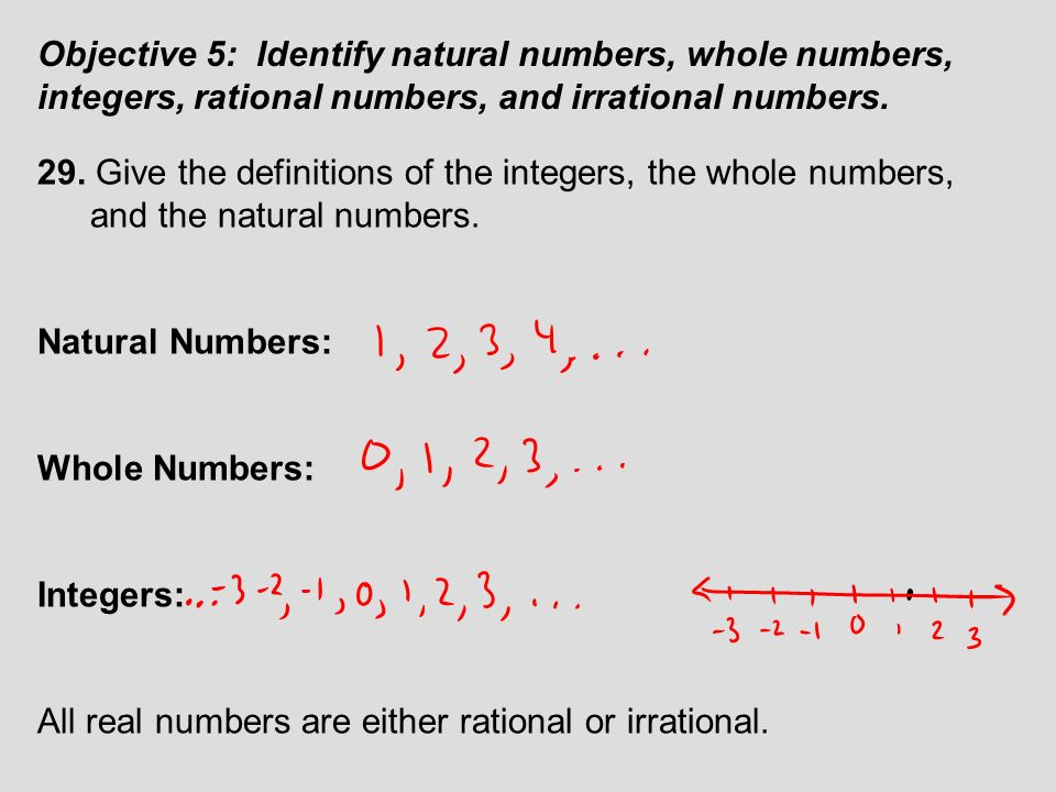 Section 1.2 The Real Number Line. - ppt video online download