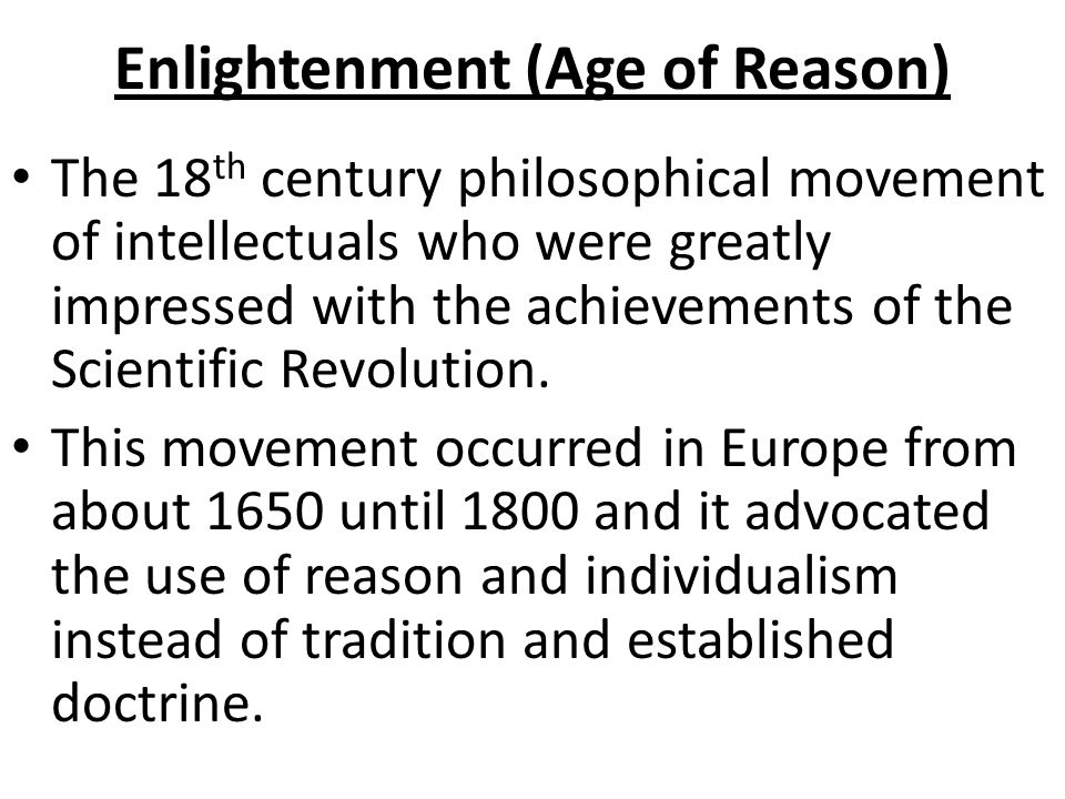 an introduction to the enlightenment era in europe in the 18th century The french enlightenment if reason, understood as harmony and balance, stamped the splendid century, it was above all the spirit of scientific inquiry that gave to the 18th century its special characterwith the decline in the authority of the french monarchy, all social and political institutions came under question and, eventually, attack.