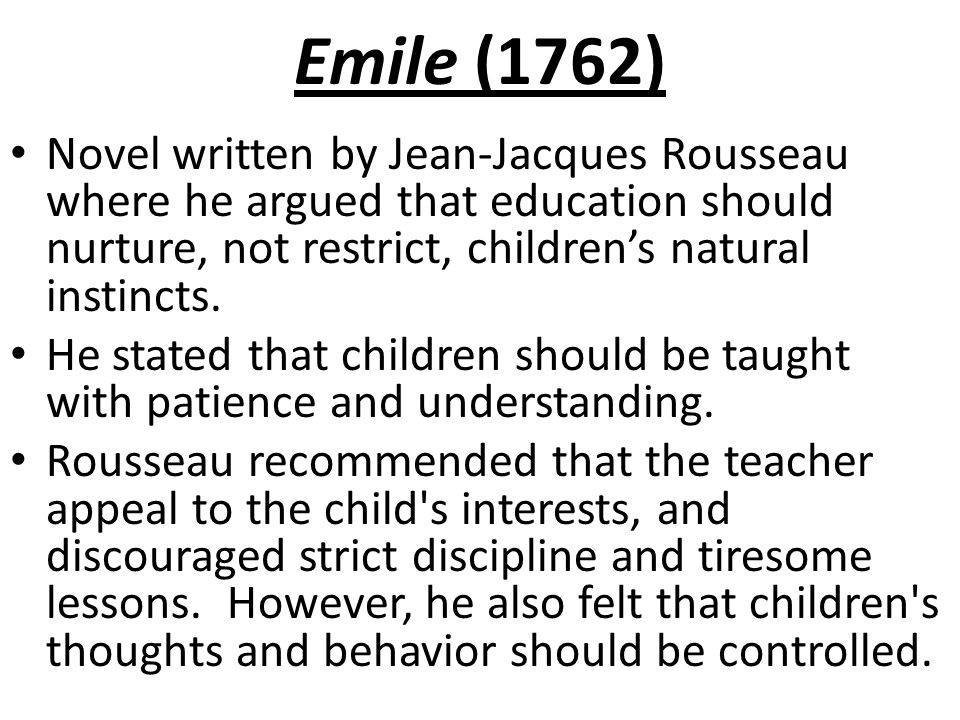 Essays On Rousseau Education Jean  Jacques Rousseau