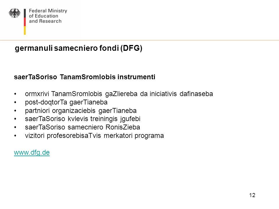 germanuli samecniero fondi (DFG)